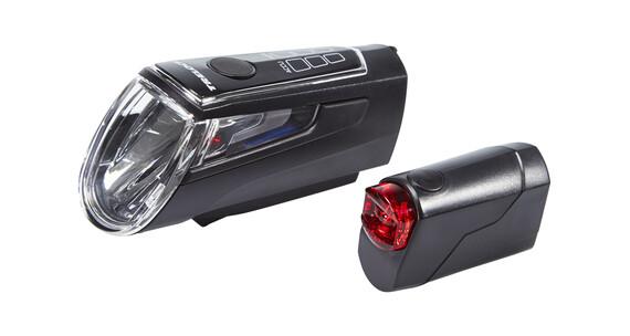 Trelock LS 560 I-GO CONTROL+LS 720 REEGO Akkubeleuchtung-Set schwarz